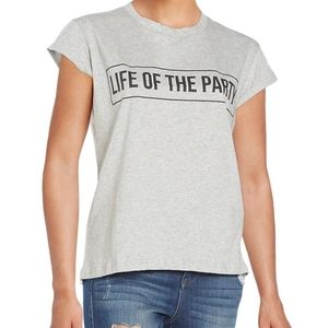 MinkPink life of the party gray short sleeve tee